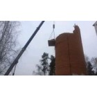 Демонтаж трубы водонапорной башни вблизи школы
