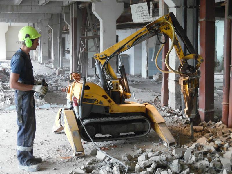 Демонтаж монолитных железобетонных конструкций
